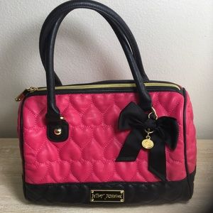 Betsey Johnson Hot Link Quilted Satchel Purse